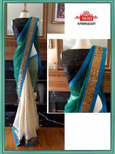 INDIAN ETHNIC BOLLYWOOD INSPIRED SAREE PARTY WEAR DESIGNER BLOUSE SARI