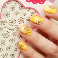 Nail Art Stickers Nail Water Decal Transfer Wrap Flowers Floral DS250
