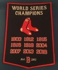 """Boston Red Sox 9X World Series Champions Banner Patch Dynasty  5"""" X 7"""" Inches"""