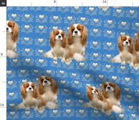 Can Carry a Square Three-in-one Data Cable Small Cavalier King Charles Spaniel Fabric Watercolor Texture Black and Tan Dog Dog Fabric Cavalier Dog Fabric Spaniel Dog Fabric Dog Breeds Fabric Brown