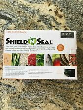"""Shield N Seal vacuum seal zipper bags 5"""" x 8"""" clear on one side black on other"""