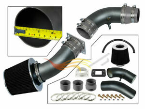 BCP RW GREY For 95-97 Ranger B2300 Pickup 2.3L L4 Air Intake System +Filter