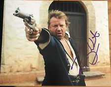 RAY WINSTONE SIGNED AUTOGRAPH CLASSIC POSE INDY ACTION 8x10 PHOTO WITH COA B
