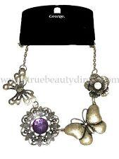 George Vintage Collar Mariposas Flores Bisutería gangas en la tienda