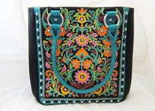 Montana West Floral Black & Turquoise Concealed Carry Shoulder Purse