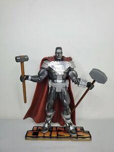 "DC SUPERHEROES 6"" STEEL FIGURE MATTEL SELECT SCULPT CLASSICS SUPERMAN S3 DCUC"