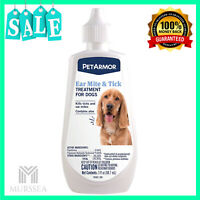 PetArmor Ear Mite and Tick Treatment for Dogs , Aids in relief of itching 3 Oz