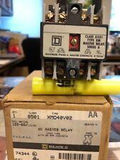 Square D 8501XMO40V02 Master Control Relay 120V 8501XM040V02 NEW OLD STOCK