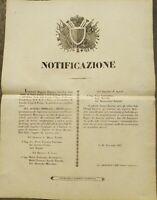 1847 BANDO: FIRENZE NASCITA DELLA GUARDIA CIVICA E CAPITANI ACQUARTIERAMENTO