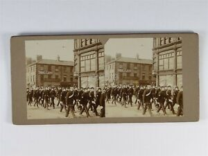 Arrival Of Fair At Newcastle - Stereoview c1890s