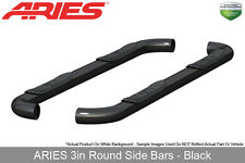 Aries Black Nerf Bars Side Steps 3in Round 2009-2016 Dodge Ram 1500 Quad Cab
