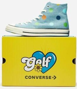 Converse Chuck Taylor All-Star 70s Hi Golf Wang Shoes size 12 170011C Polka Dots