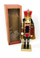 "Nutcracker 14"" Caped King Faux Diamond Accents Golden Staff World Market 2015"