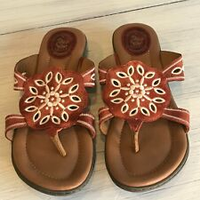 ARIAT Altered Brown and Cream Leather Sandals Size 9