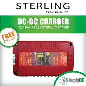 Sterling BBW1236 Pro Charge B DC to DC Charger 12V - 36V 10A IP68 Waterproof