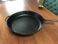 "Vintage Lodge 14SK Cast Iron Frying Pan Skillet 15 1/4"" - Very Nice"
