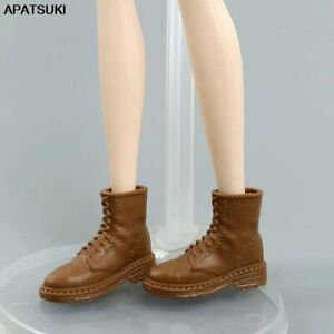 """Brown Shoes Bootie For 11.5"""" Doll Flat Fashion Short Boots For Blythe 1/6 Toys"""