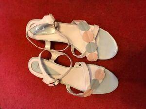 Piu di Servas pastel coloured leather sandals size 7 (jfc)