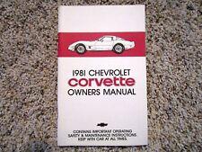 1981 corvette owners manual ebay rh ebay ca 1981 corvette service manual 1981 corvette factory service manual