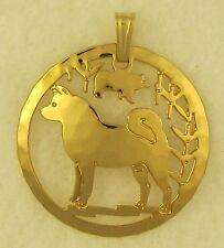 Akita  Jewelry Gold Pendant by Touchstone Dog Designs