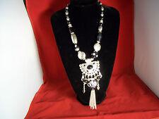 """Wunderschöne """"indianische"""" Halskette, Modeschmuck aus silberfarbenen Metall"""