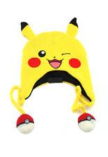 Pokemon Pikachu Winking Peruvian Laplander Knit Hat