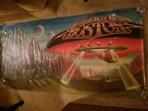 """Boston Don't Look Back 74"""" x 37"""" Vintage Epic Record Store Poster"""