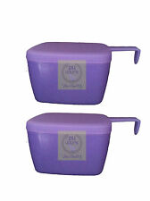 Tupperware Forget Me Not / Cheese Slice Keeper (set of 2)
