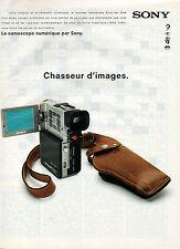 Publicité 1997  SONY  le camescope numérique