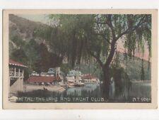 Naini Tal Lake & Yacht Club India Vintage Postcard 213b
