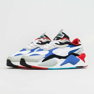 Puma RS X3 Cubed Puzzle High Rise Blue White Red UK 9.5 US 10.5 Suede OG Rider