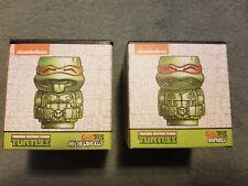 Two Teenage Mutant Ninja Turtles Geeki Tikis Michelangelo & Raphael W/ Loot Pin