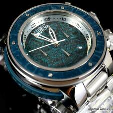 Invicta Subaqua Sea Dragon Aztec Blue Wooden Inlay Steel 52mm Chronograph New