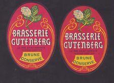 Ancienne étiquette Bière Alcool France   BN48604 Brasserie Gutenberg  St Gervai