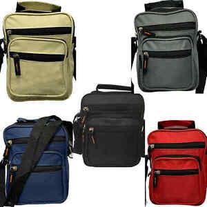 Black Cross Body Messenger Bags Utility Sports Travel Work Shoulder Bags Unisex