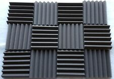 8 pack Acoustic Foam Tiles   2 x 12 x 12 (charcoal) * FREE SHIPPING