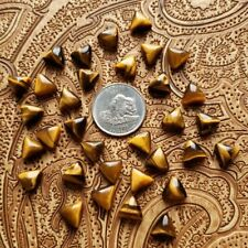 Natural Tiger Eye Loose Gemstones Trillion Shape Cabochon Size In 21MM To 25MM