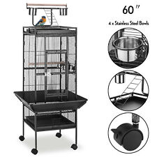 "60"" Large Playtop Bird Cage Parrot Macaw Finch Cockatiel Conure Cockatoo w/Stand"