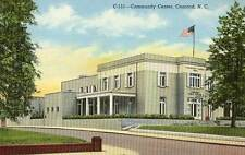 1941 CONCORD NC Community Center Library Confederate Research postcard