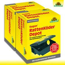 Neudorff 2x Sugan Rattenköder Depot Lutte Contre Hangar Cave Garage Maison Toit