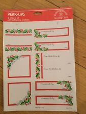 Vintage Package Of 3 Sticker Sheets Labels Christmas Homemade By