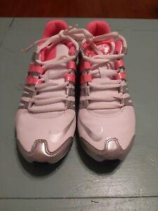 Nike Shox Current 639657-102 running sneaker Woman's Size 8 White Silver Mango