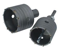 2x Bohrkrone 65mm + 80mm Hartmetall SDS Dosenbohrer Beton Bohrer