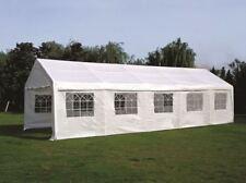 Festzelt Partyzelt Pavillon Gartenzelt Garten Zelt PALMA 4x10m Planen PE weiß