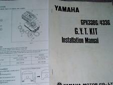 Vintage yamaha gpx GYT 1975 Yamaha GPX433 338G Hop-up manual snowmobile