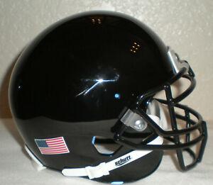Schutt Black Blank Shell Mini Football Helmet w/ Black Metal Mask - No Box