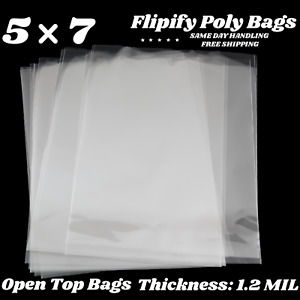5x7 Clear PolyBags Flat Open Top Plastic Cellophane Treat Bakery Cookies Candies