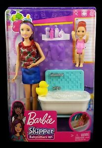 Barbie Skipper Babysitters Inc. Bathtime Playset with Toddler