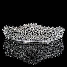 Elegant Crystal Tiara Wedding Bridal Floret Diamante Crown Headband Hair Jewelry