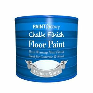 Chalky Chalk Finish Floor Paint 2 Litre/650ml Flat Matt Finish for Concrete Wood